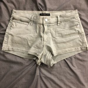 Abercrombie & Fitch Distressed Gray Jean Shorts